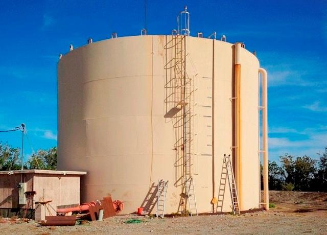 Lining of hezarded acid alkaline tank